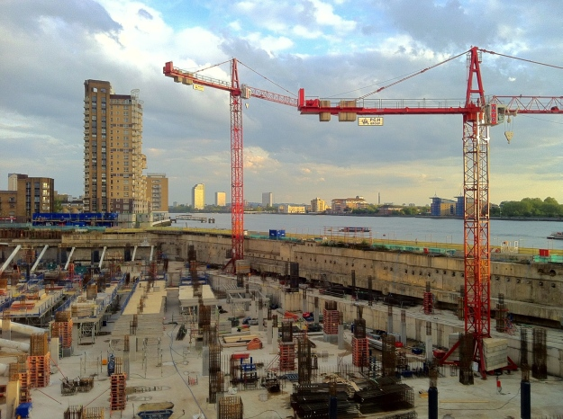 Canary Wharf building site