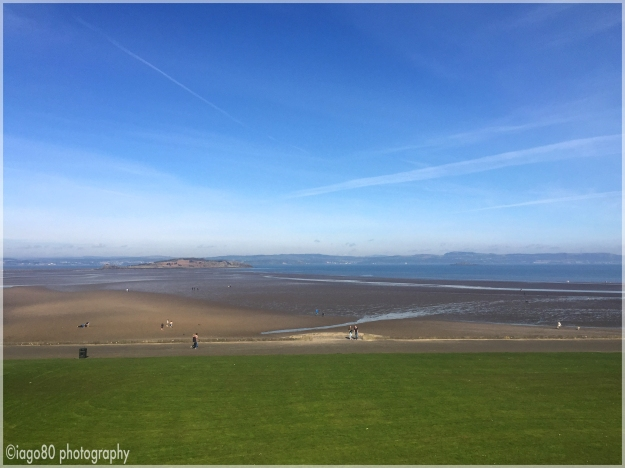 Camond Beach and Cramond Island in the distance