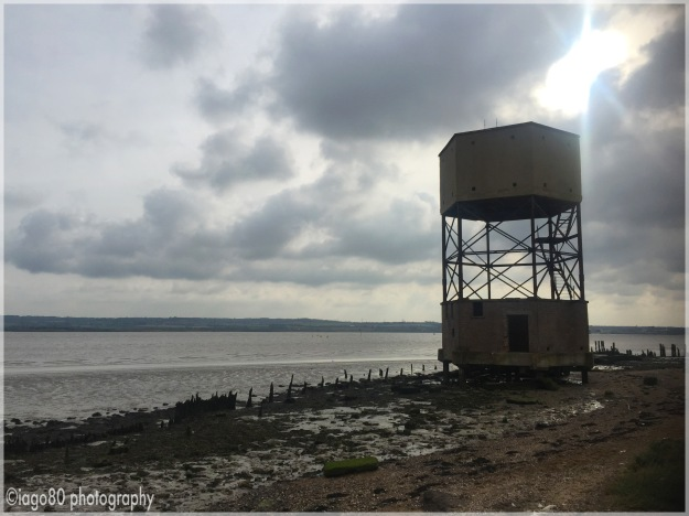 Second World War radar tower near Coalhouse Fort