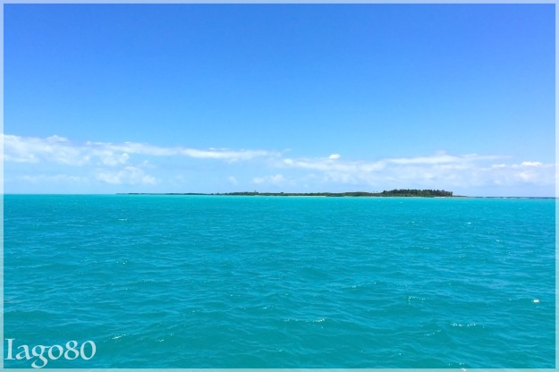 Isla Contoy seen on the approach from a boart